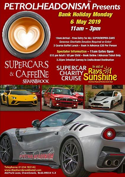 SUPERCARS & CAFFEINE   SHARNBROOK  Charity Cruise